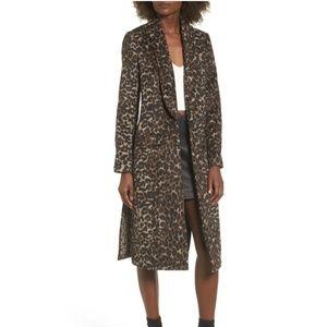 NWOT Leith Leopard Coat